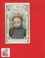 GUERIN BOUTRON Chromo Empereur Chine Enfant POU YI Tchoun - Guérin-Boutron