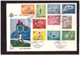 TEM3855  -   SAN MARINO  4.5.1982    /    PREOLIMPICA 1963 - SERIE COMPLETA - SASSONE  649/658 - Summer 1964: Tokyo