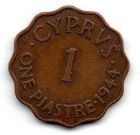 Chypre / 1 Piastre 1944 / TTB - Cyprus