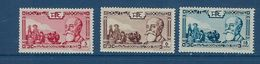 "Indochine YT 199 à 201 "" Président Paul Doumer "" 1938 Neuf** - Indochina (1889-1945)"