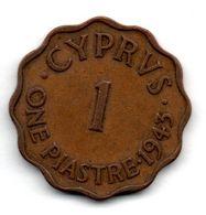 Chypre / 1 Piastre 1943 / TB - Cyprus