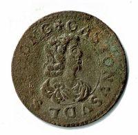 DOMBES / GASTON D'ORLEANS / DOUBLE TOURNOIS / 1643 - 476-1789 Monnaies Seigneuriales