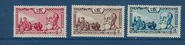 """Indochine YT 199 à 201 """" Président Paul Doumer """" 1938 Neuf* - Ungebraucht"""
