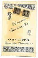 1942 ORVIETO FARMACIA BERNARDINI - Vecchi Documenti