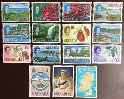 Grenada 1966 Definitives Set Flowers Spices Fruit MNH - Grenade (...-1974)