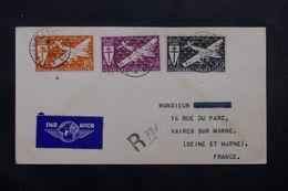 SAINT PIERRE ET MIQUELON - Enveloppe En Recommandé Pour La France En 1945, Affranchissement Plaisant  - L 63800 - St.Pierre & Miquelon