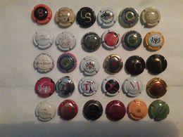 Collection,  Lot De 30 Capsules Muselets Différents  De CHAMPAGNE,  Ensemble TB - Champán
