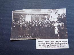 """Origineel Knipsel ( 4592 ) Uit Tijdschrift """" Zondagsvriend """"  1936  :  Brasserie  Brouwerij """" Meiresonne """" Gent  Gand - Vieux Papiers"""
