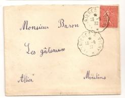 1932 CONVOYEUR / FERRIERES A VICHY     C579 - Poststempel (Briefe)
