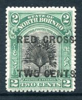 North Borneo 1918 Red Cross Surcharges - 2c + 2c Travellers' Tree - P.13½-14 - HM (SG 215) - North Borneo (...-1963)