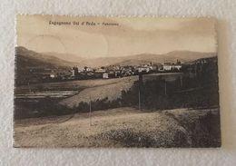 Cartolina Illustrata Lugagnano Val D'Arda - Panorama, Per Caorso 1922 - Italy