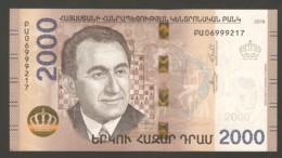 Armenia 2018 Chess - Banknote Petrosian 2000 Dram - Ajedrez