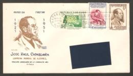 FDC Cuba 1951 Havana - 2 Chess Envelopes, Traveled - Ajedrez