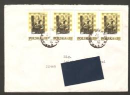 Poland 1974 Warszawa - Traveled Envelope With Chess Stamps - Ajedrez