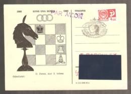 Soviet Union USSR 1973 Leningrad - Chess Stamp On Chess Czechoslovakian Postcard - Ajedrez