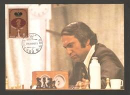 Soviet Union USSR 1982 - Chess Stamp On Chess Postcard With Mikhail Tal - Ajedrez