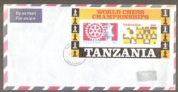 Tanzania 1986 - Chess Block On Envelope - Ajedrez