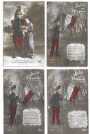 Patriotiques Lot De 300 CPA Fantaisies Militaires - Cartes Postales