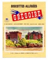 Buvard Biscottes Gregoire Levallois Perret Numero N 23 Chateau Du Nessay St Briac Sur Mer Ile Et Vilaine Saint - Biscottes