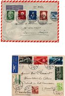 La Sagne 1946 & Weggis VII 1947 - 2 Lettres Avec Beaux Affranchissements - Lettres & Documents