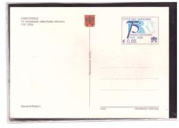 INT.583  -    75° ANNIVERSARIO DELLA RADIO VATICANA/   FILAGRANO  NR.  C.56  NUOVO - Interi Postali