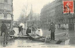 75 PARIS -  INONDATIONS - AVENUE D'AUMESNIL - Überschwemmung 1910