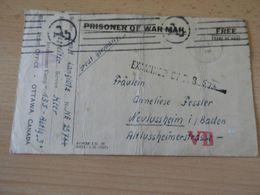 Kriegsgefanngenkarte Von Canada Nach Neulussheim/Baden  30 Juli 1943 - Documenti