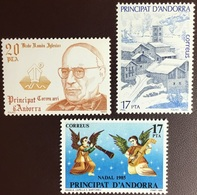 Andorra Spanish 1985 3 Commemorative Sets MNH - Ungebraucht