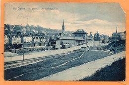 St Gallen Switzerland 1908 Postcard - SG St. Gall