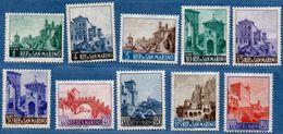 San Marino 1960-66 City Views 10 Values MNH - 2005.2814 - Neufs