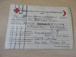 Kriegsgefanngenkarte  Aus UDSSR,Moskau An Das Rote Kreuz  3.5.1946 - Documenti
