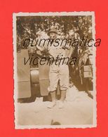 Alpini Artigliere Con Cannone Foto Anni 30 Alpino Di Valdagno Vi Foto Originale Canon - Guerra, Militari