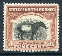 North Borneo 1925-28 Pictorials - 1c Tapir HM (SG 277) - North Borneo (...-1963)
