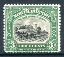 North Borneo 1925-28 Pictorials - 3c Jesselton Railway Station HM (SG 279) - North Borneo (...-1963)