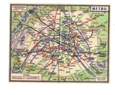 Carte Plan Metro Paris Petit Format De Poche - Mappe