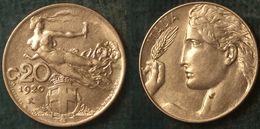 M_p> Regno Vitt Eman III° 20 Centesimi 1920 Donna Librata, ALTA Conservazione - 1861-1946 : Regno
