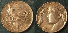 M_p> Regno Vitt Eman III° 20 Centesimi 1921 Donna Librata, ALTA Conservazione - 1861-1946 : Regno