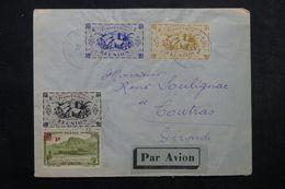 RÉUNION - Enveloppe De Saint Denis Pour Coutras En 1945, Affranchissement Plaisant - L 63804 - Réunion (1852-1975)