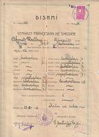 Albania Diploma - Dishmi E Gymnazit Françeskan Ne Shkoder 1931-32 * - Diplômes & Bulletins Scolaires