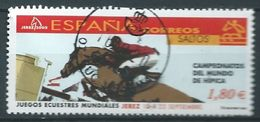 ESPAGNE SPANIEN SPAIN ESPAÑA 2002 HORSES: JUMPS CABALLOS: SALTOS USED ED 3904 YT 3469 MI 3749 SG 3874 SC 3167G - 1931-Aujourd'hui: II. République - ....Juan Carlos I