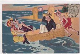 Souvenir De La Plage - Carte Gauffrée - 1908     (A-234-200622) - Künstlerkarten