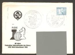 DDR 1984 Rudersdorf - Chess Cancel On Commemorative Envelope, Traveled - Ajedrez