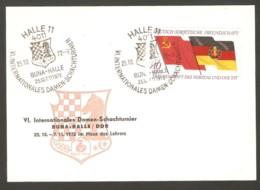 DDR 1972 Buna-Halle - Chess Cancel On Commemorative Card - Ajedrez