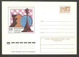 Soviet Union USSR 1974 - Chess Commemorative Envelope 50 Year Fide - Ajedrez