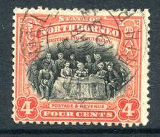 North Borneo 1925-28 Pictorials - 4c The Sultan Of Sulu Used (SG 280) - North Borneo (...-1963)