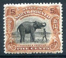 North Borneo 1925-28 Pictorials - 5c Elephant HM (SG 281) - North Borneo (...-1963)