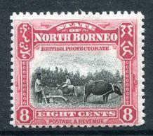 North Borneo 1925-28 Pictorials - 8c Ploughing HM (SG 283) - North Borneo (...-1963)