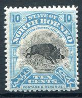 North Borneo 1925-28 Pictorials - 10c Wild Boar HM (SG 284) - North Borneo (...-1963)