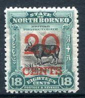 North Borneo 1925-28 Pictorials - 20c On 18c Banteng HM (SG 287) - Nordborneo (...-1963)