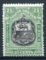 North Borneo 1925-28 Pictorials - 25c Arms Of The Company HM (SG 289) - North Borneo (...-1963)